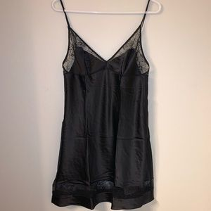 Victoria's Secret Intimates & Sleepwear - Victoria's Secret Black Lace Slip Night Gown